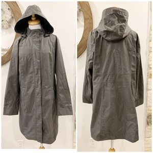 Eddie Bauer Weatheredge Long Hooded Rain Jacket